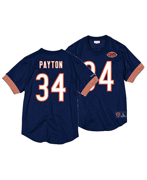 pretty nice 898d0 ae20a Men's Walter Payton Chicago Bears Mesh Name and Number Crewneck Jersey