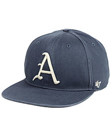 '47 Brand Arkansas Razorbacks Navy Go Shot Captain Snapback Cap