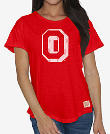 Retro Brand Women's Ohio State Buckeyes Rolled Sleeve T-Shirt