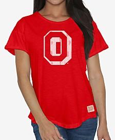 Retro Brand Women's Ohio State Buckeyes Rolled Sleeve T-Shirt