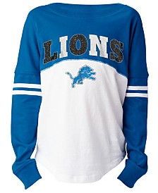 5th & Ocean Detroit Lions Slub Long Sleeve T-Shirt, Girls (4-16)