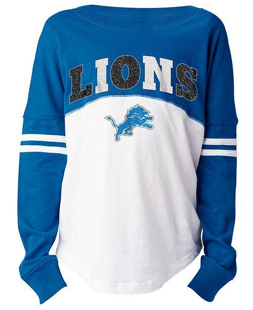 5th & Ocean Detroit Lions Slub Long Sleeve T-Shirt, Girls (4-16)