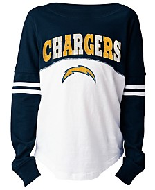 5th & Ocean Los Angeles Chargers Slub Long Sleeve T-Shirt, Girls (4-16)