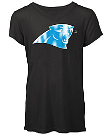 5th & Ocean Carolina Panthers Logo T-Shirt, Girls (4-16)