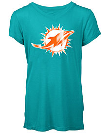5th & Ocean Miami Dolphins Logo T-Shirt, Girls (4-16)