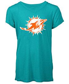 5th & Ocean Miami Dolphins Logo T-Shirt, Girls (4-16)