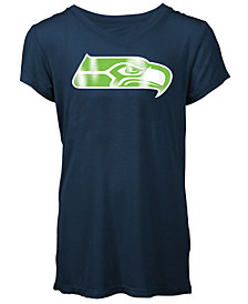 5th & Ocean Seattle Seahawks Logo T-Shirt, Girls (4-16)