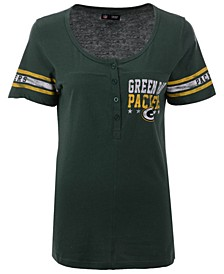 Women's Green Bay Packers Button Down T-Shirt