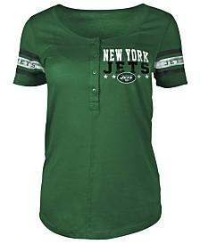 5th & Ocean Women's New York Jets Button Down T-Shirt