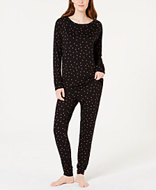 Alfani Printed Knit Pajama Set, Created for Macy's