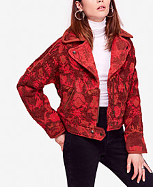 Free People Mosaic Printed Moto Jacket