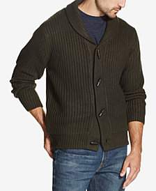 Weatherproof Vintage Men's Shawl Collar Toggle Cardigan