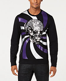 I.N.C. Men's Long-Sleeve Skull Graphic T-Shirt, Created for Macy's