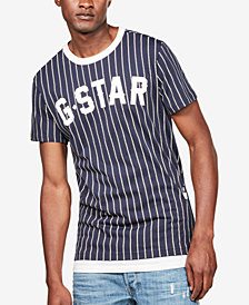 G-Star RAW Men's Wabash Dot-Stripe Logo Graphic Baseball T-Shirt, Created for Macy's