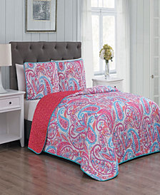Seville 3 Pc King Quilt Set