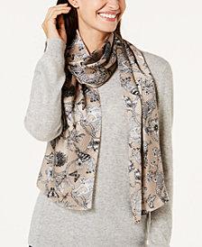 Echo Floral & Fauna Silk Scarf