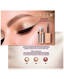 Receive a FREE Stila Shimmer & Glow Liquid Eye Shadow Sampler with any $25 purchase from select Beauty brands