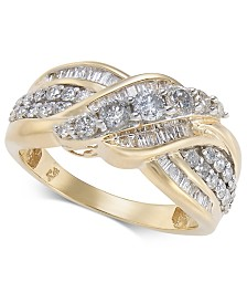 Diamond Overlap Cluster Ring (1 ct. t.w) in 14k Gold