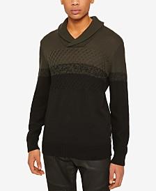 Armani Exchange Mens Colorblocked Shawl Sweater
