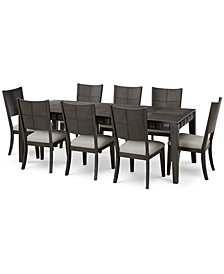 Matrix Dining Furniture, 9-Pc. Set (Table & 8 Side Chairs), Created for Macy's