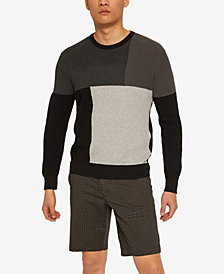 Armani Exchange Mens Geometric Block Sweater