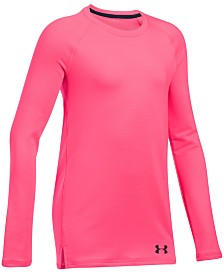 Under Armour Big Girls Dual-Layer Logo-Print T-Shirt
