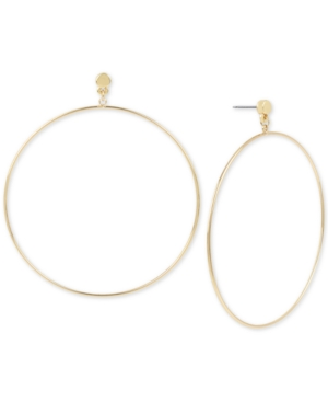 Bcbg BCBG LARGE DROP HOOP EARRINGS