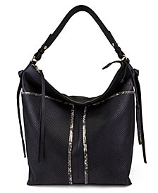 T Tahari Skyler Leather Bucket Bag
