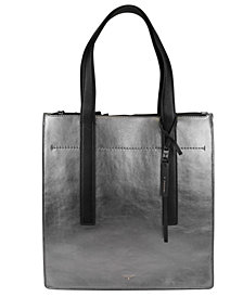 T Tahari Metallic Leather Tote