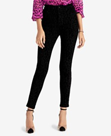 RACHEL Rachel Roy Velvet Animal-Print Skinny Leg Pants, Created for Macy's