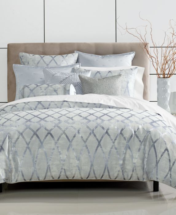Hotel Collection Dimensional Comforter, Full/Queen, Blue, Size: Full/Queen