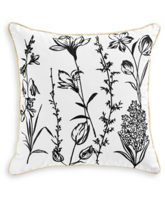 """Embroidered 18"""" Square Decorative Pillow, Created for Macy's"""