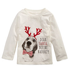 First Impressions Baby Boys Dear Santa-Print Cotton T-Shirt, Created for Macy's