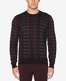 Perry Ellis Men's Plaid Crewneck Sweater