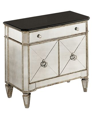 Marais Mirrored Small Chest Furniture Macy s