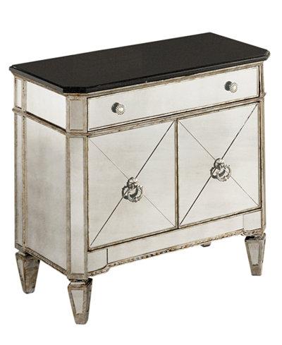Marais Mirrored Small Nightstand Chest Furniture Macy 39 S