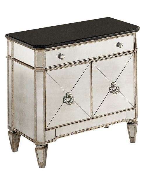 An antique finish for a fresh start. Redesign your home with this royal,  refined collection, which features inset mirror faces, silver-accented  hardware and ... - Furniture Marais Mirrored Furniture Collection - Furniture - Macy's