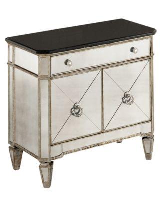 marais mirrored small nightstand chest