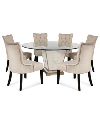 Marais Dining Room Furniture 7 Piece Set (60  sc 1 st  Macy\u0027s : mirror dining table set - pezcame.com