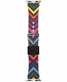 I.N.C. Women's Rainbow Chevron Silicone Apple Watch® Strap, Created for Macy's