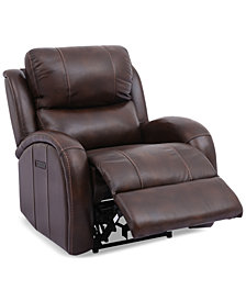 Leiston Dual Power Leather Recliner with USB Power Outlet