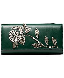 Michael Kors Bellamie Embellished Leather Clutch