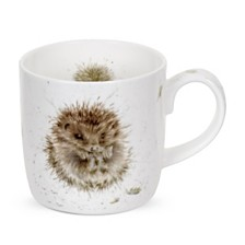 "Royal Worcester  Wrendale 11 oz. Porcupine Mug ""Awakening"" - Set of 6"