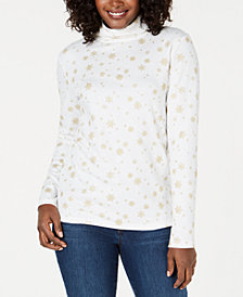 Karen Scott Snowy Glory Turtleneck, Created for Macy's