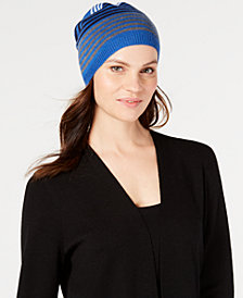 Eileen Fisher Striped Merino Wool Beanie