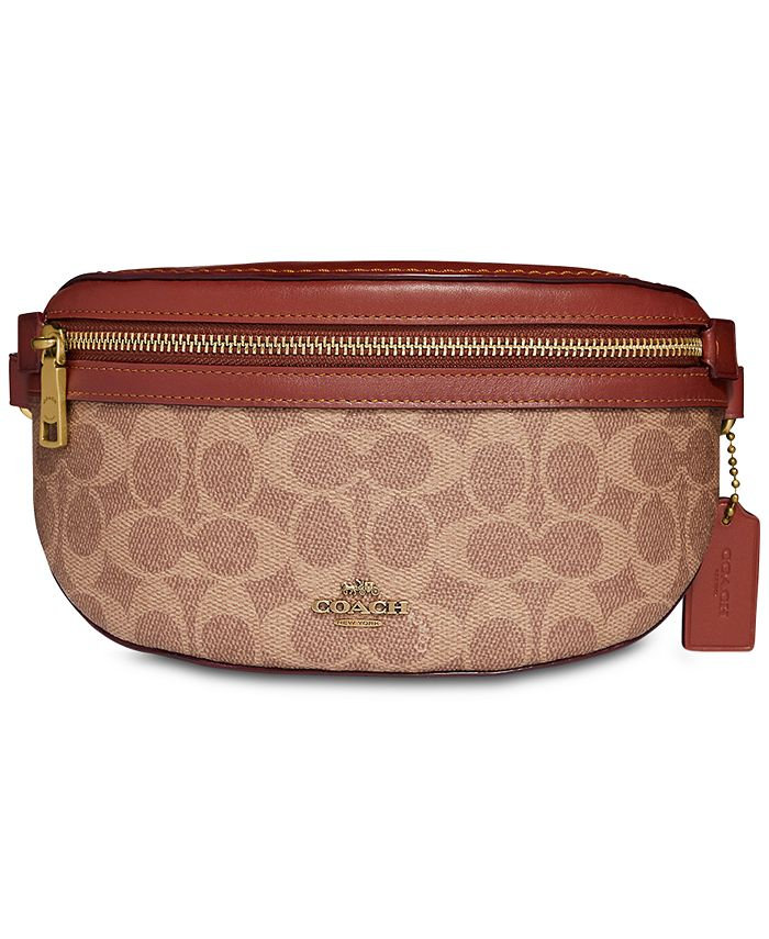 COACH - Coated Canvas Signature Fanny Pack