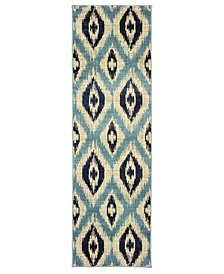 "Oriental Weavers Linden 7825C Blue/Grey 2'3"" x 7'6"" Runner Area Rug"