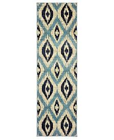"""Oriental Weavers Linden 7825C Blue/Grey 2'3"""" x 7'6"""" Runner Area Rug"""