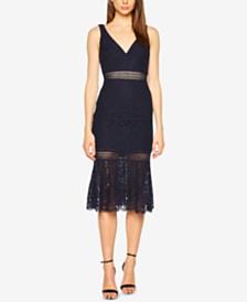 Bardot Lace Peplum Dress