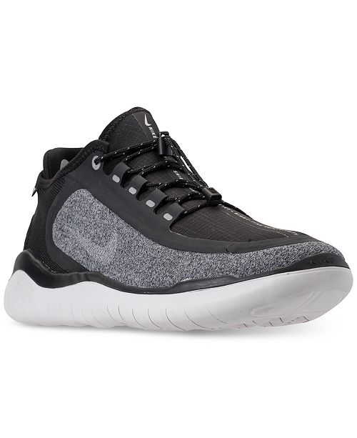 hot sale online 66b60 2509a ... Nike Men s Free RN 2018 Shield Running Sneakers from Finish ...